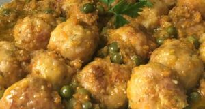albondiga de pollo con vegetales