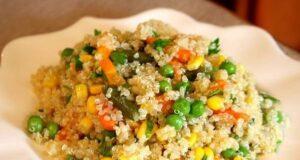 quinoa con vegetales mixtos