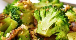 brocoli salteado con jamon